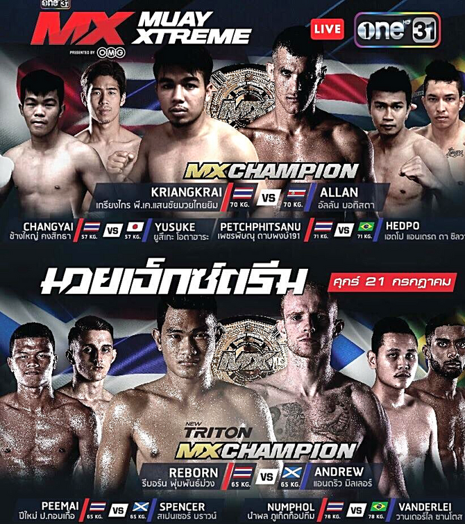 All aboard for tonight's Muay mayhem at MXMuayXtreme