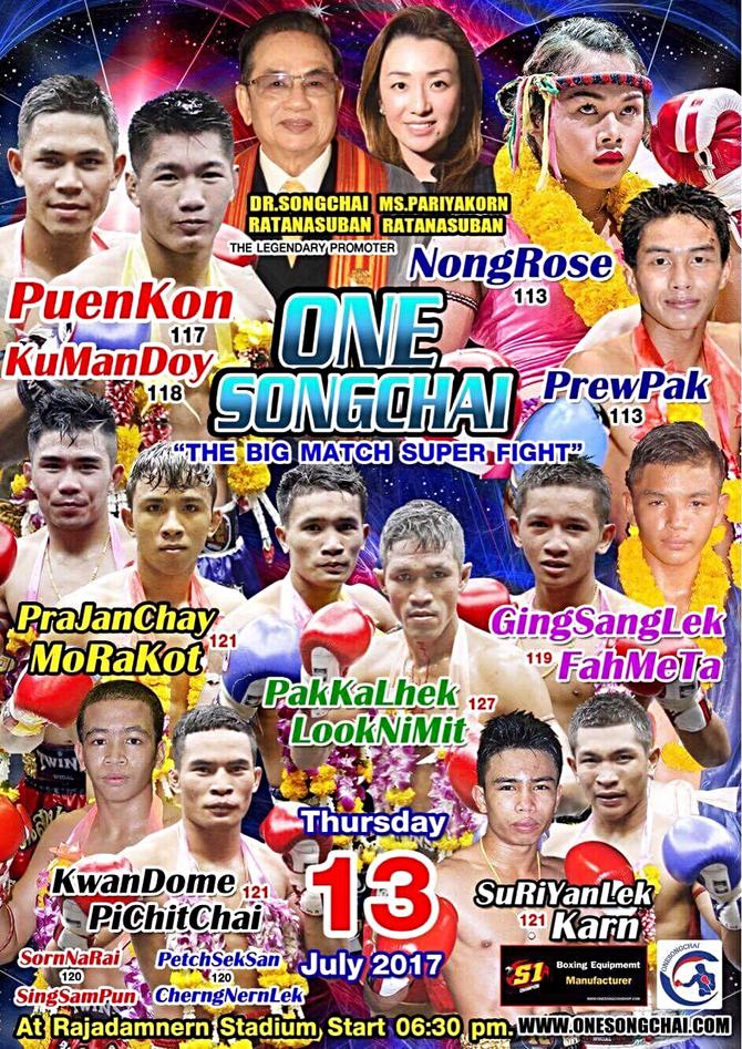 One Songchai:Muay stars collide at Rajadamnern
