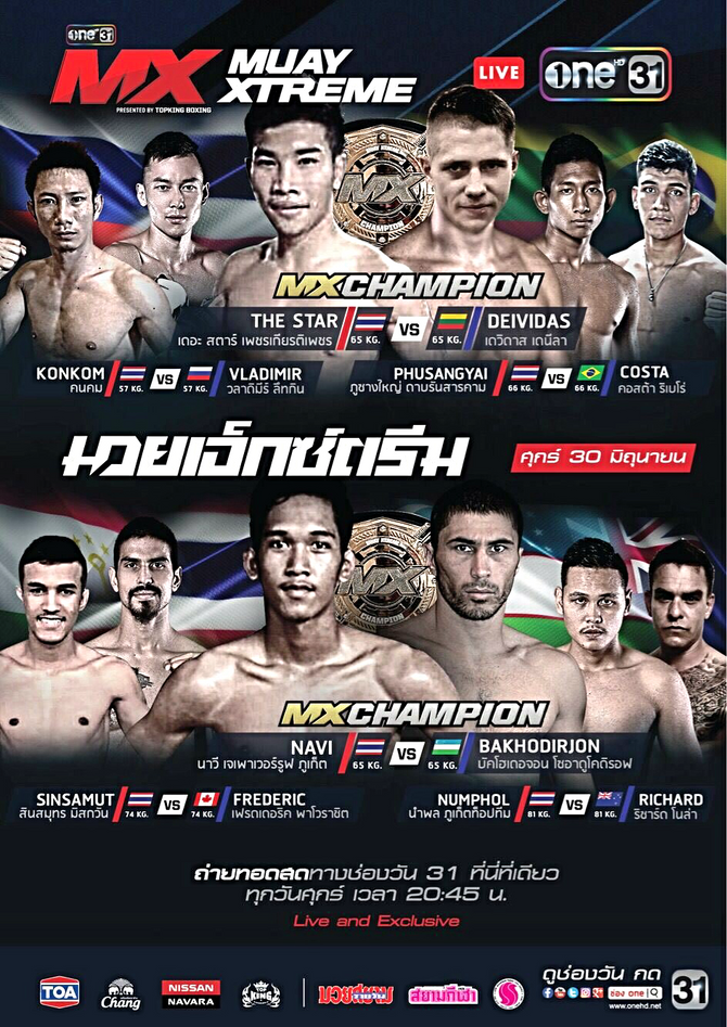 MXMuayXtreme:The Star makes his return to the ring tonight