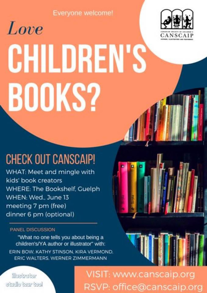 Meet up for kids' book creators, Guelph