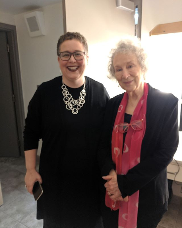 Margaret (Atwood) and me.