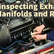 Inspecting Exhaust Manifolds And Risers