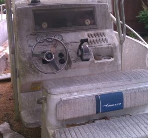 mold mildew center console boat