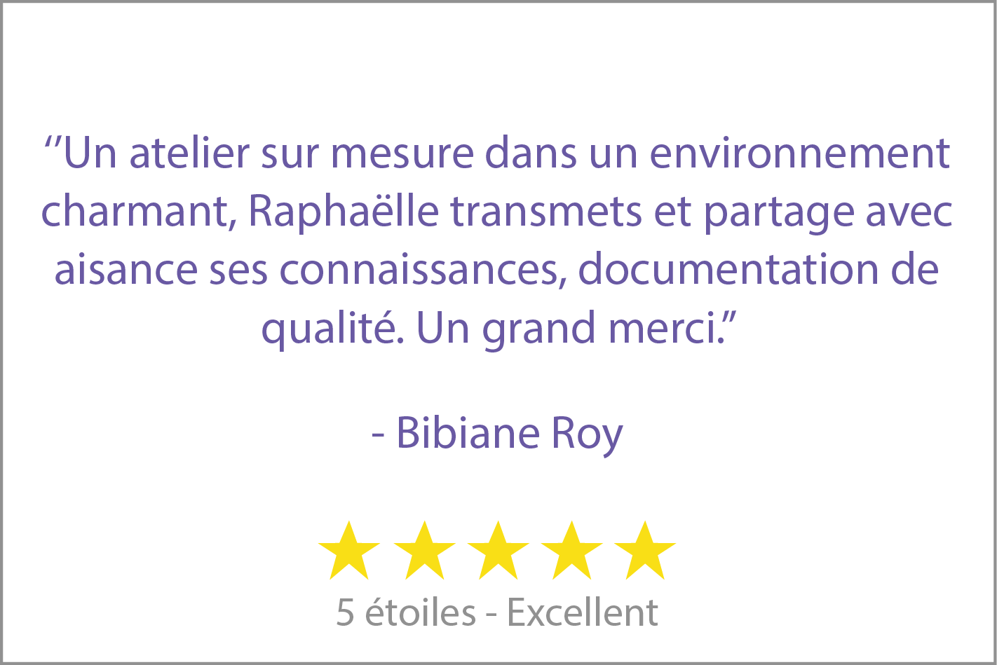 review - Bibiane Roy