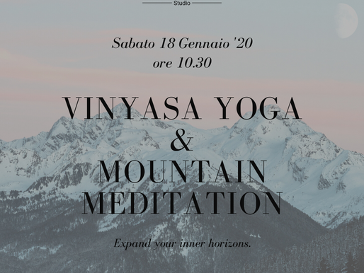 VINYASA & MOUNTAIN MEDITATION 18/01/'20