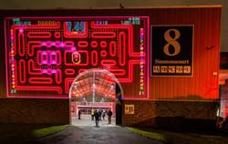 Pacman Projection Entrance