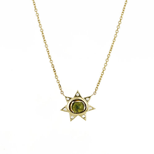EZRA PENDANT NECKLACE: OLIVE