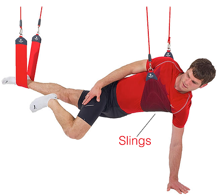 Redcord, Neurac, Suspension Exercise, Physical Therapy Continuing Education Seminars, Athletic Training, TRX Suspension Training, Fitness, Sports Performance, Muscle Stability, Stabilization Exercise, Pilates, Fitness, Sling, Bungee Cord, unweighting