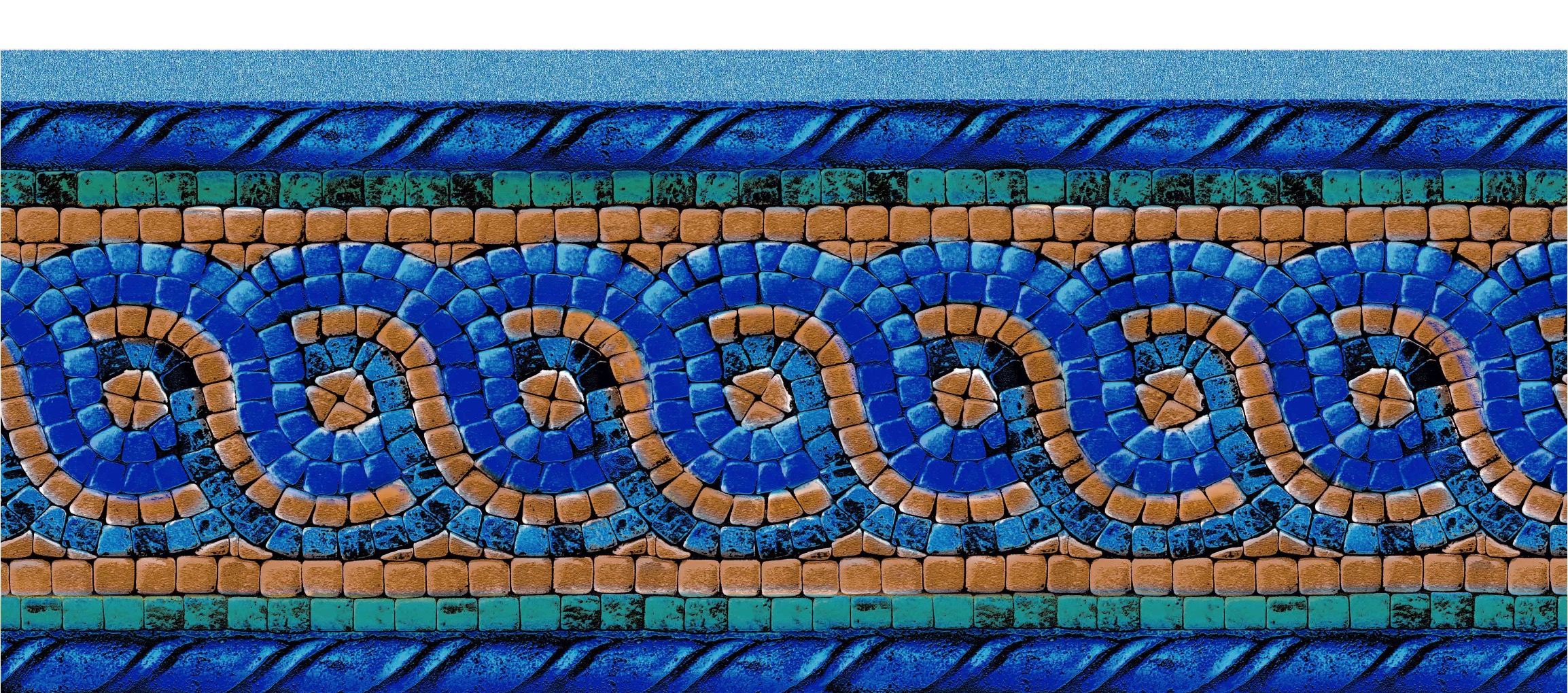 Close-up of Mosaic Tile Liner
