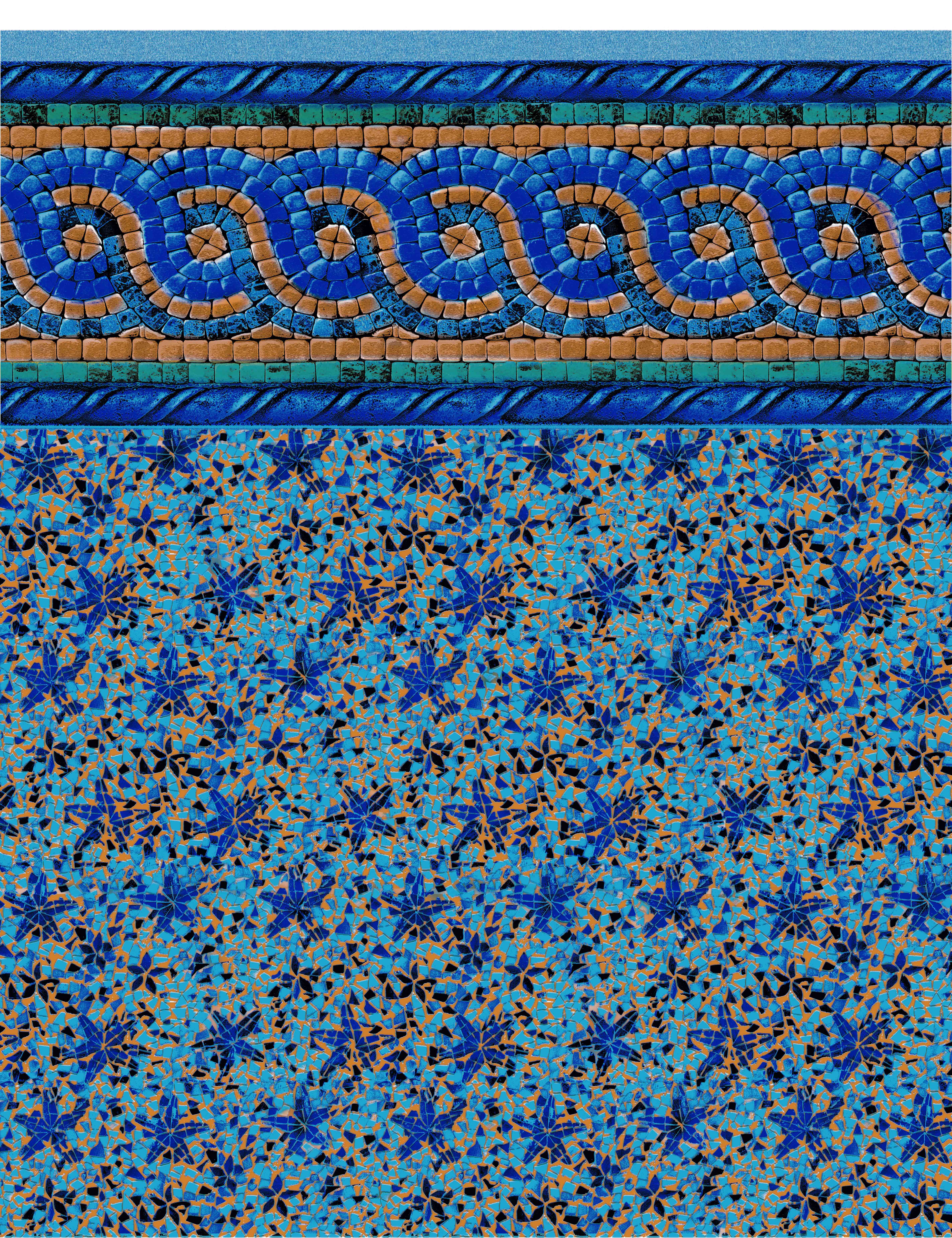 Mosaic Tile with Starfish Bottom