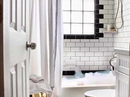 5 Takes on Classic Black & White Bathroom Tiling