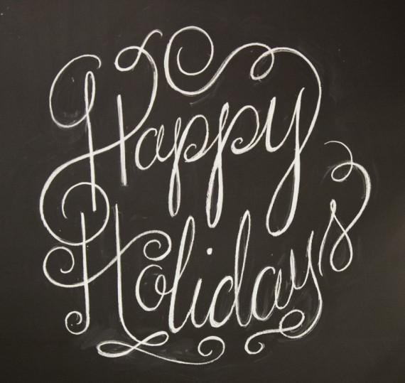 Happy Holidays B&W