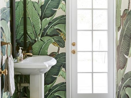 An Inside Look: Proof Banana Leaf Isn't Over Yet ... Katherine Power's Powder Room