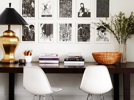 Look of the Day: A Fun B&W Gallery Wall Inspo