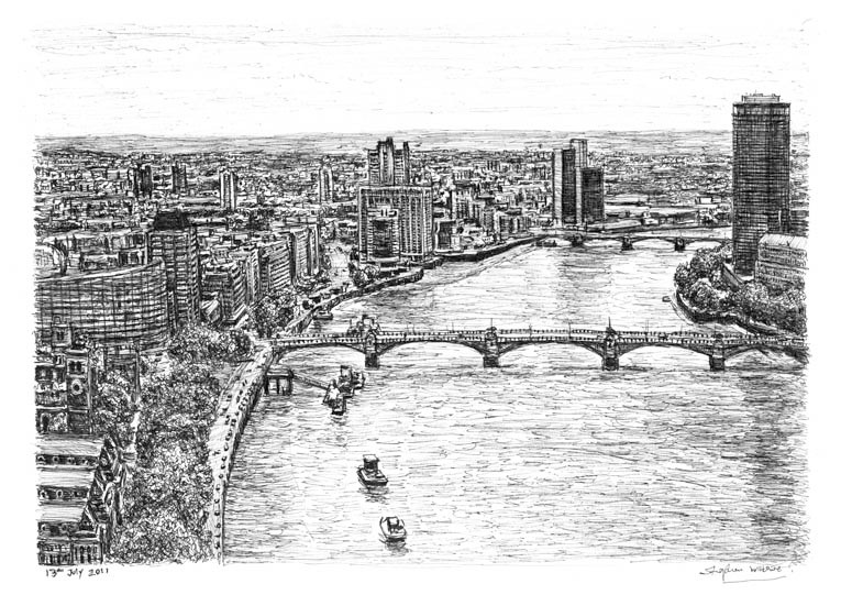 River Thames by Stephen Wiltshire