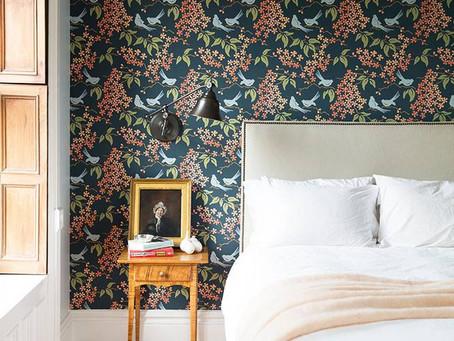 An Inside Look: A Wallpaper Brooklyn edroom via Domino