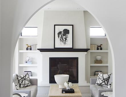 An Inside Look: A B&W Living Room by O'Hara Interiors