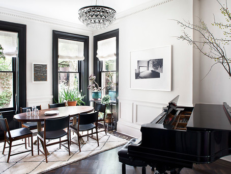 An Inside Look: A High Contrast, Timeless Dining Room by Blair Harris