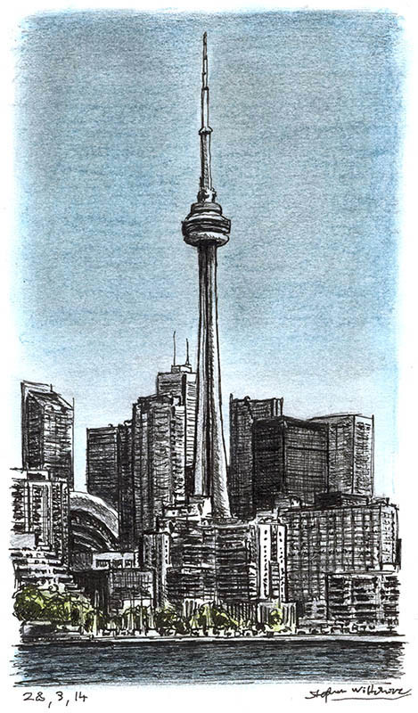 CN Tower Toronto by Stephen Wiltshire