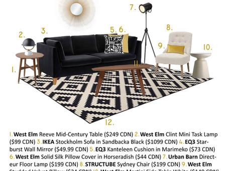 AdPC Build-a-Room: Mod Living Under $2,500!