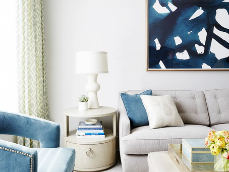 An Inside Look: A Calming Living Room Refresh by Nicole Gibbins