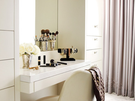 An Inside Look: A Lacquered Dressing Room Console by Kimberly Seldon Design Group