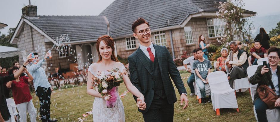 Manfrad & Moon ROM Garden Wedding at Rose Cottage Cameron Highlands