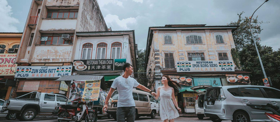 Ipoh old town Pre-wedding Photography Celebrating Haw & Wei