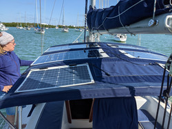 Solar Panels During Installation