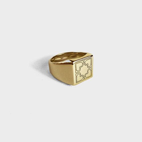 QUADRICOEUR SIGNET RING / GOLD