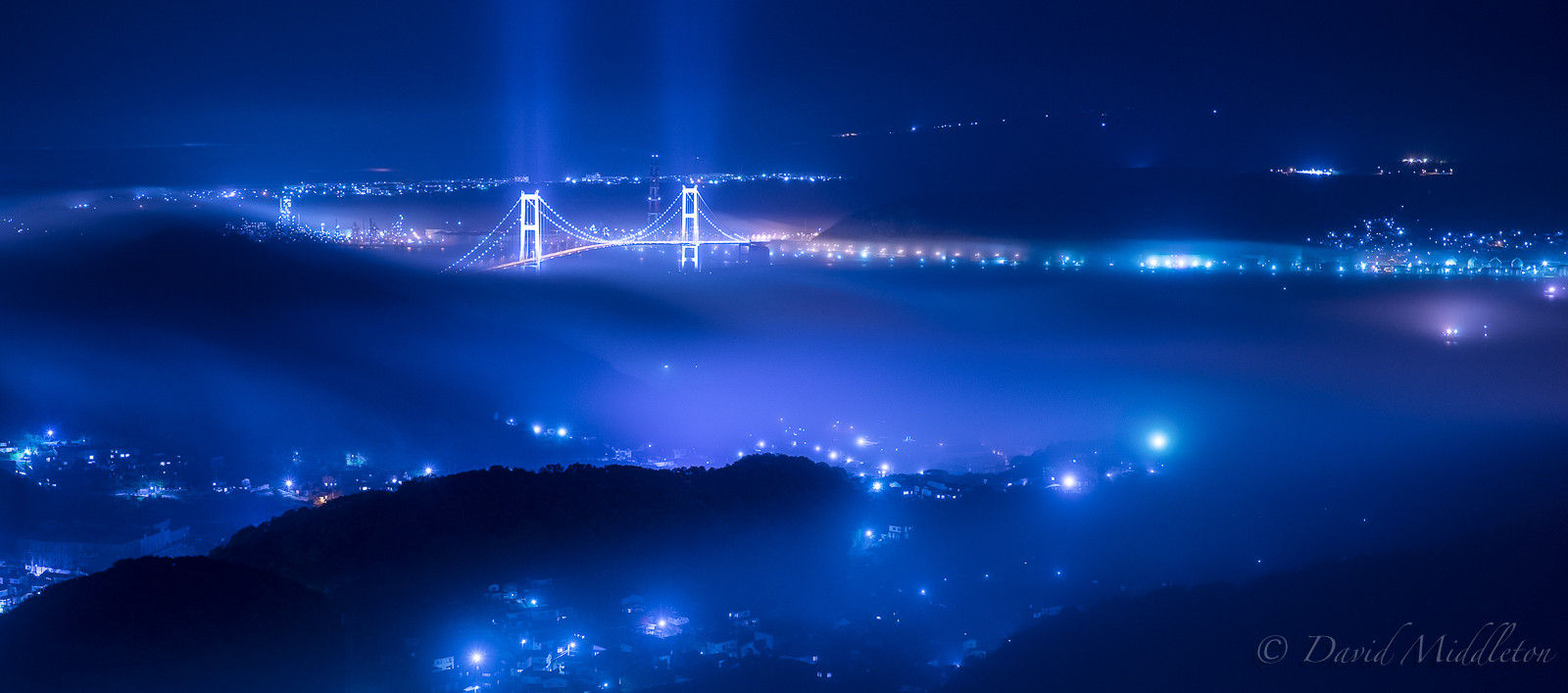 Fog Starting to Cover the City of Muroran