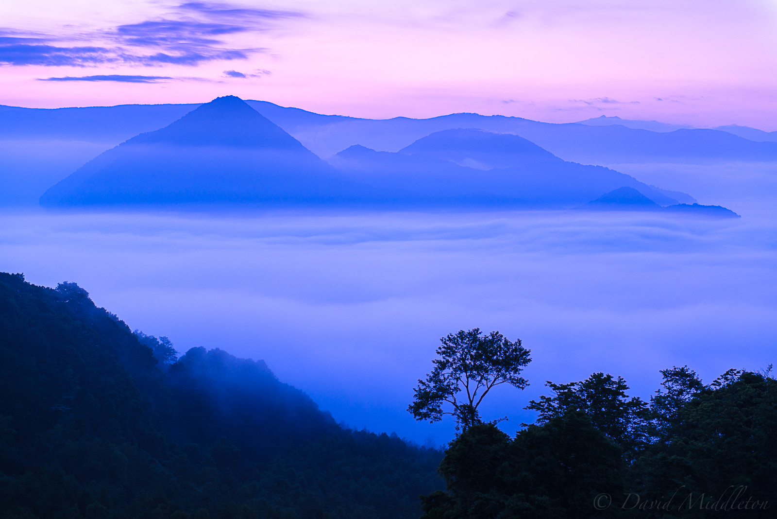 Fog Covering Lake Toya