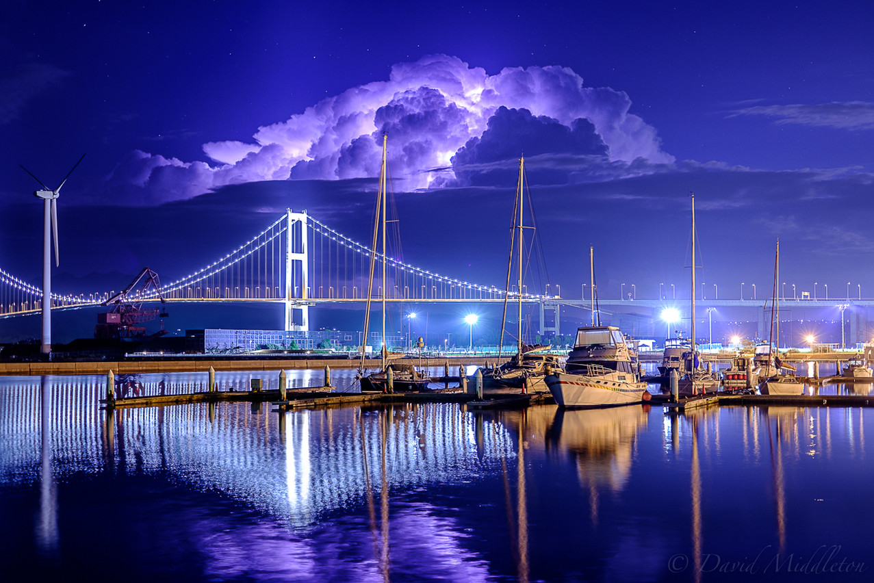 Thunderclouds over the City of Muroran