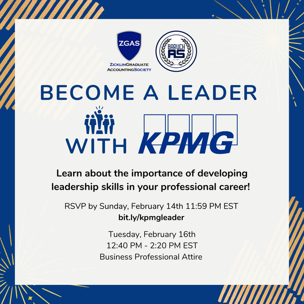 Become A Leader with KPMG