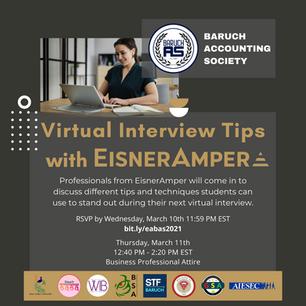 Virtual Interview Tips with EisnerAmper
