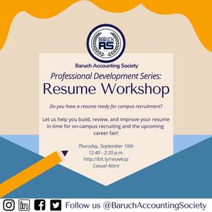 BAS Professional Development Series: Resume Workshop