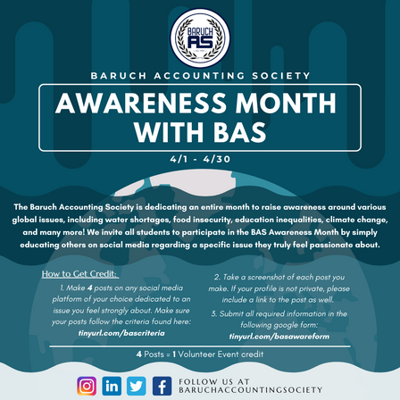 Awareness Month with BAS