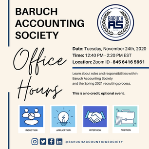 Office Hours Fall 2020