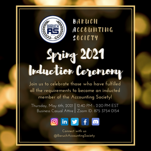 Spring 2021 Induction Ceremony