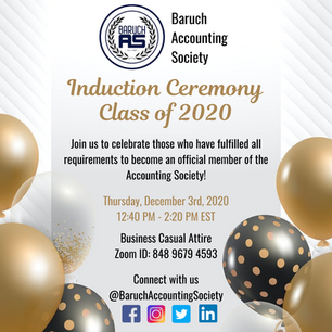 Induction Ceremony Class of 2020