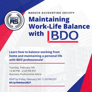 Mainting Work-Life Balance with BDO