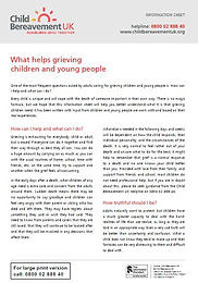 What Helps Grieving Children and Young P