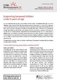 Supporting Bereaved Children Under 5 Yea