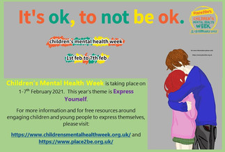 Children's Mental Health Week 1 - 7 February