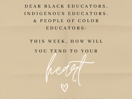 Free 1-1 Wellness Check-Ins for BIPOC Educators