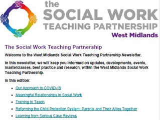 The Social Work Teaching Partnership - April 2020 Newsletter
