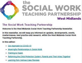 The Social Work Teaching Partnership - April 2020 Newsletter