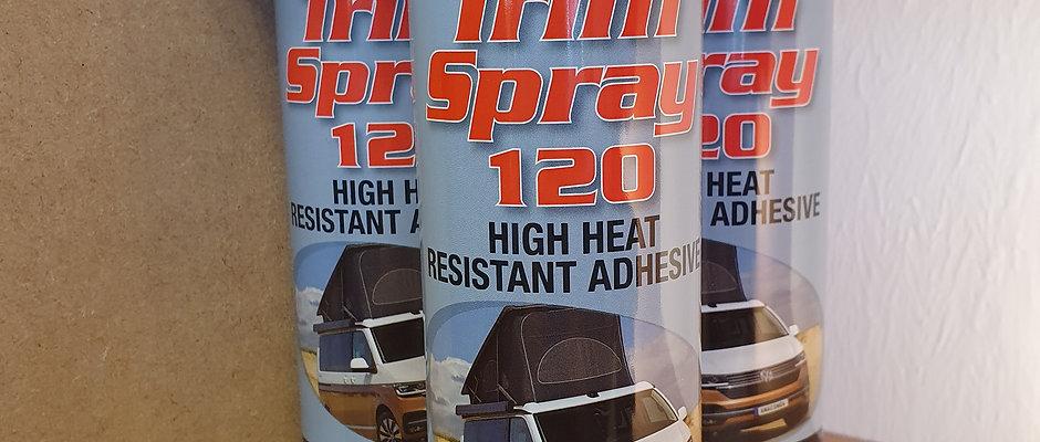 Multipack of trim spray 120 high heat resistant spray adhesive (Free P&P))