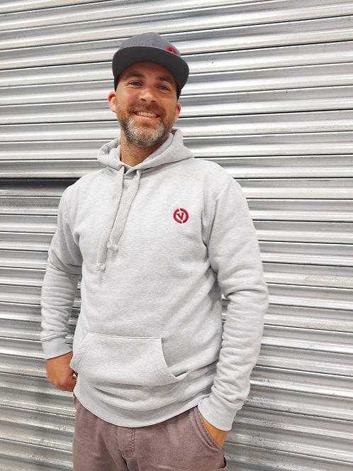 Combe Valley Campers Heather Grey Heavyweight Hoodie