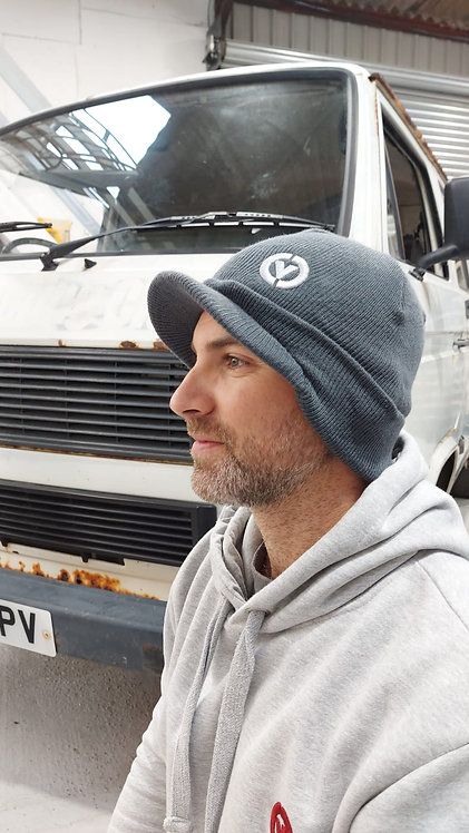 Peaked Beanie Embroidered with Combe Valley Campers Logo